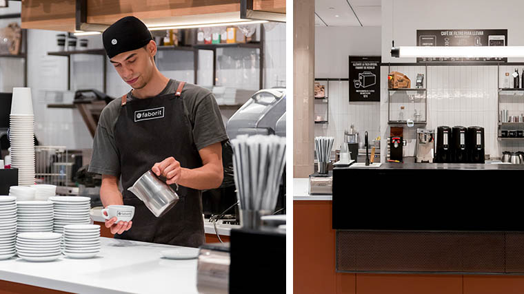 Faborit Castellana 81 mostrador café barista latte art
